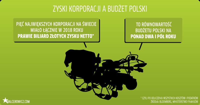 Zyski korporacji a budżet Polski