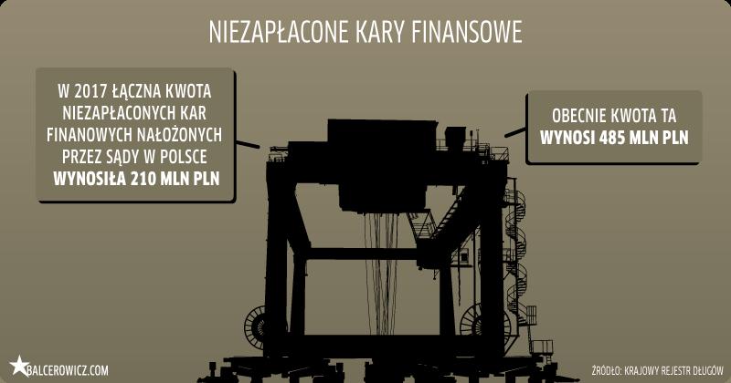 niezapłacone kary finansowe w Polsce