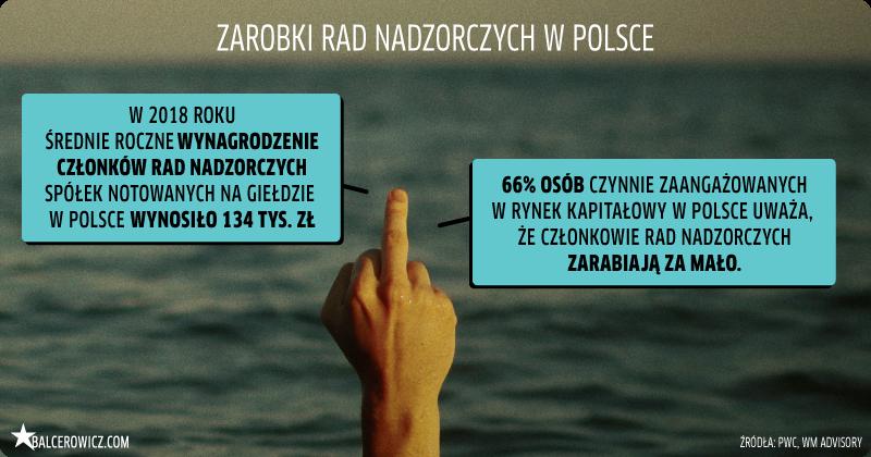 zarobki rad nadzorczych w Polsce